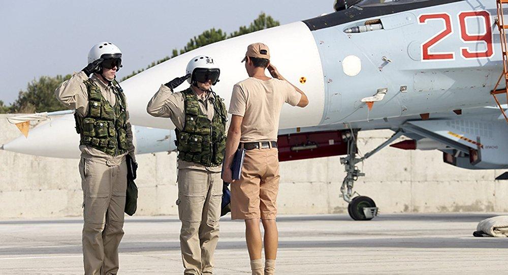 Sur la base aérienne militaire Hmeimim en Syrie. Archive photo