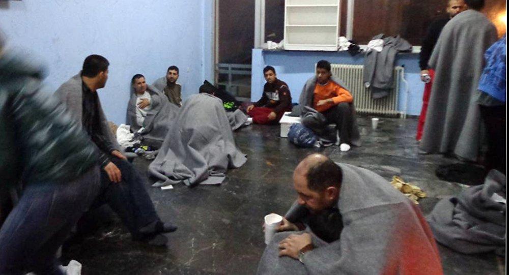 Survivants dans le naufrage en mer Égée