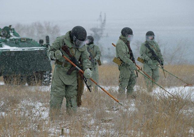 Les troupes du génie russes