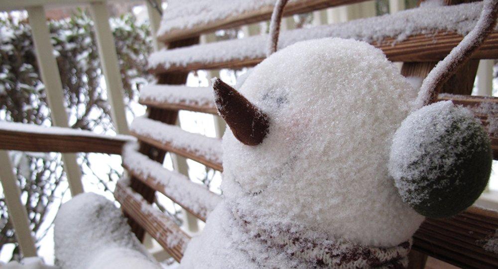 Bonhomme de neige. Image d'illustration