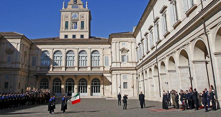 Le président iranien Hassan Rohani en Italie