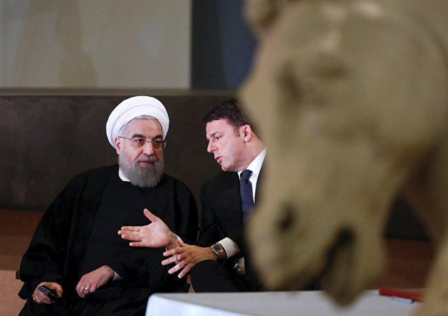 La visite du président iranien Hassan Rohani en Italie