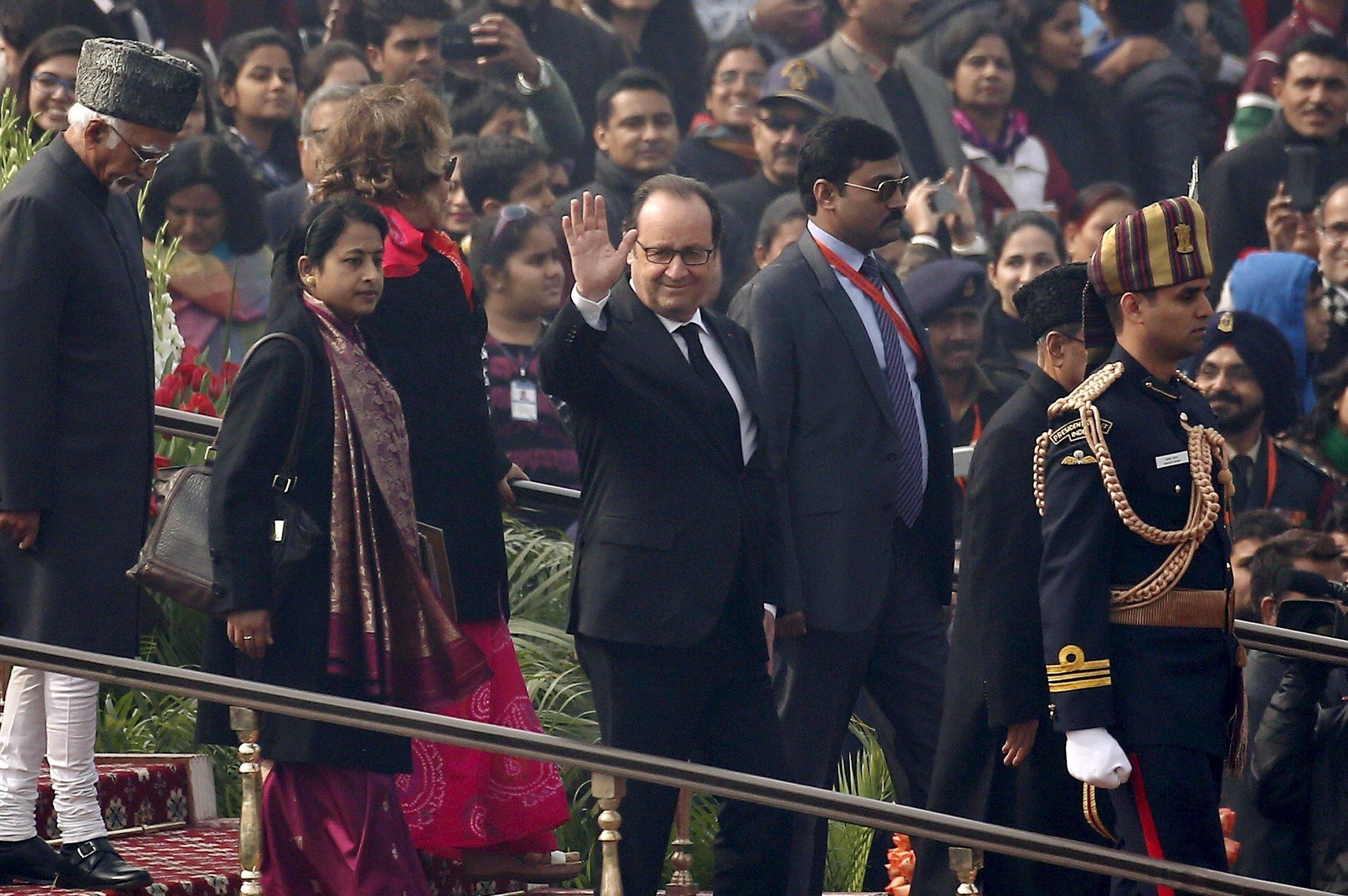 Visite d'Etat de François Hollande en Inde