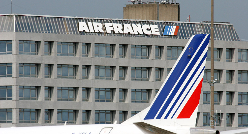 Air France passenger airliners