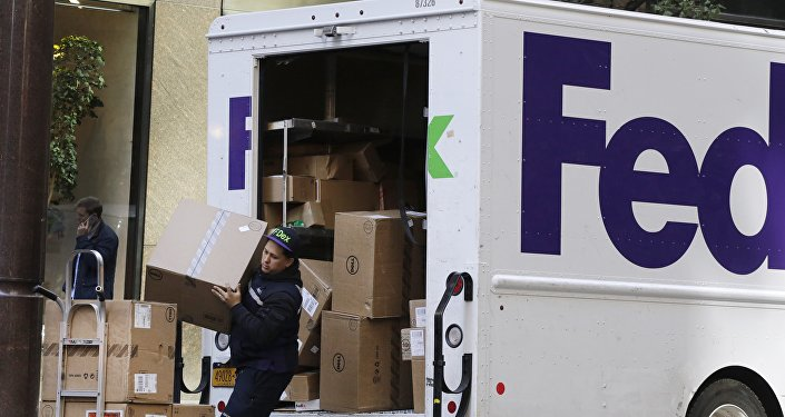 Salariés de Fedex. Image d'illustration