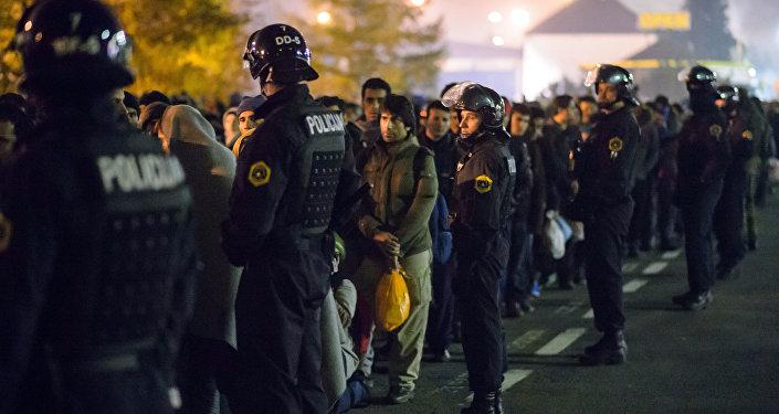 police d` Autriche, migrants