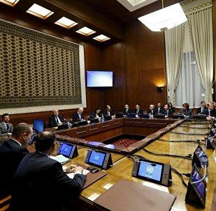 Les pourparlers sur la Syrie à Genève. Archive photo