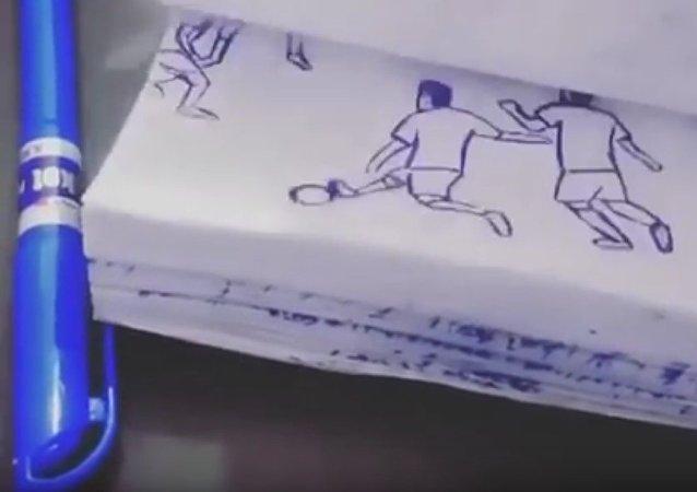 Le but de Messi inspire les peintres