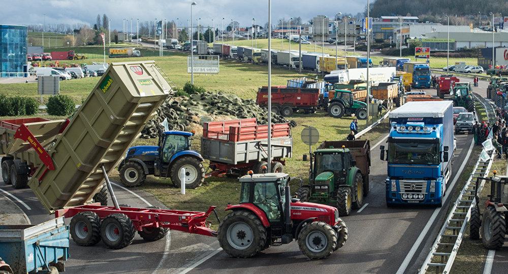 la grève des agriculteurs