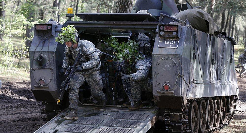 Militaires américains lors des exercices Black Arrow en Lituanie