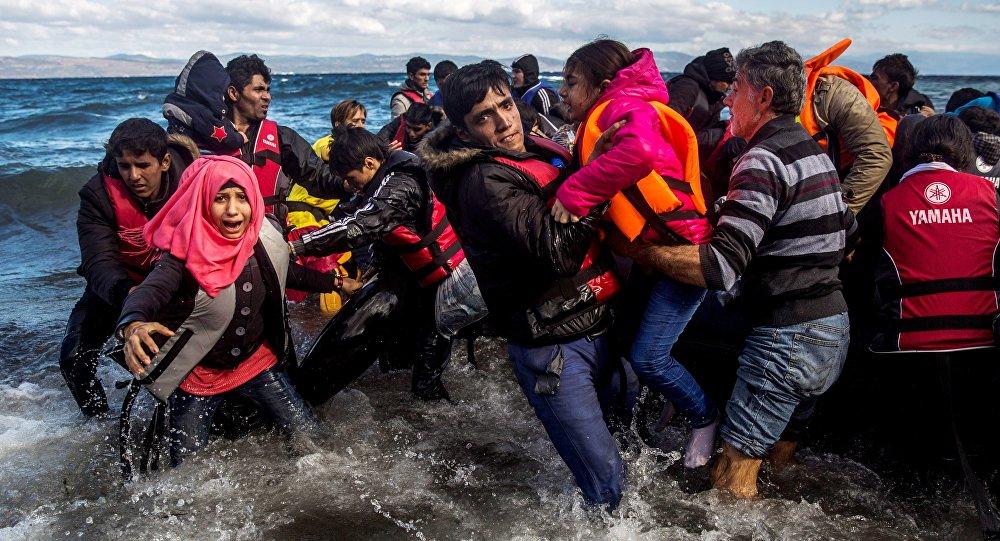 migrants sur les navires