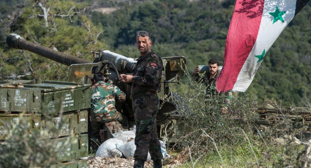 Soldat syriens dans la province d'Idlib