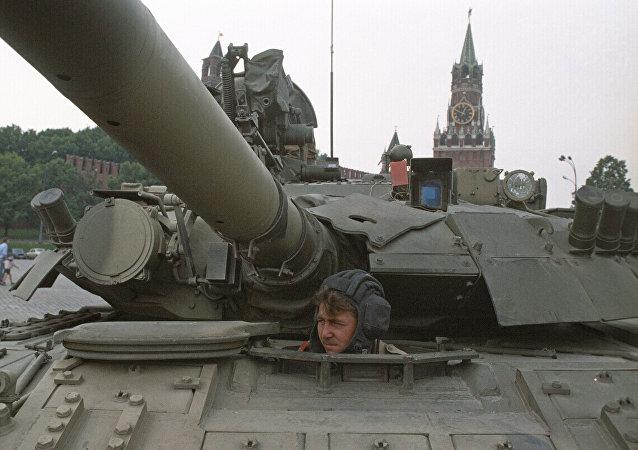 Un char à Moscou
