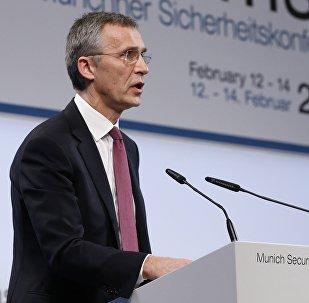 Jens Stoltenberg, secrétaire général de l'OTAN lors de la Conférence sur la sécurité de Munich