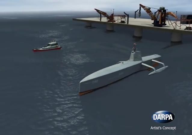Le navire sans pilote de lutte anti-sous-marine (ACTUV)