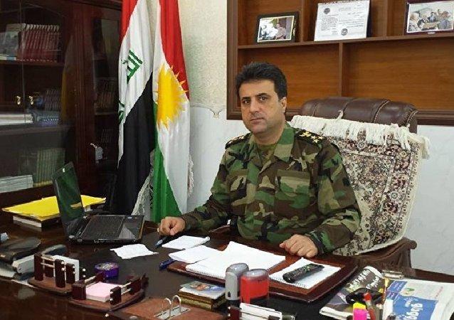 Le porte-parole du ministère des peshmergas Helgurd Hikmet