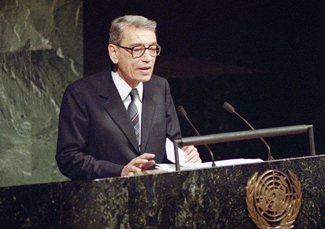 Boutros Boutros-Ghali, Dec. 3, 1991.