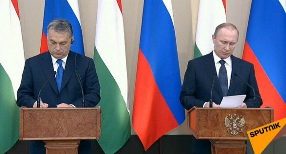 Conférence de presse de Poutine et Orban sur le bilan de leur rencontre