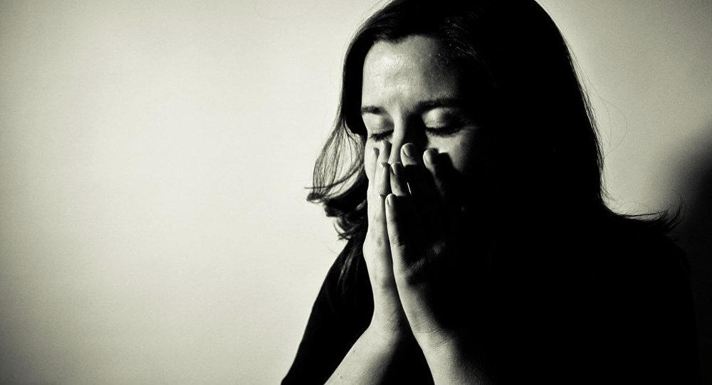 une femme dépressive