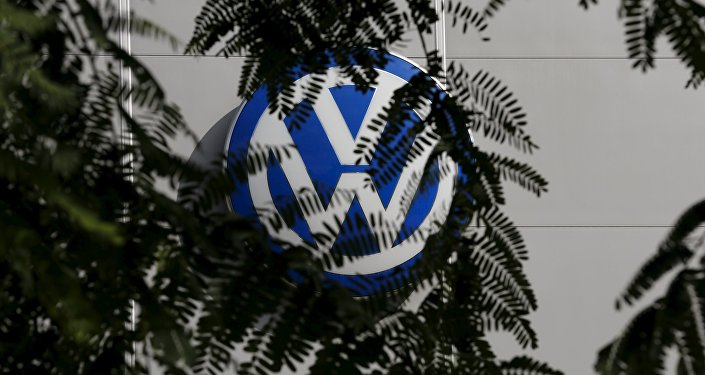A logo of VW