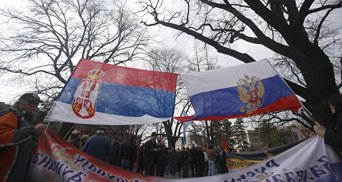 Manifestation contre l'Otan à Belgrade