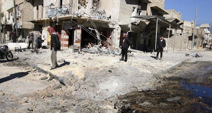 La ville d'Alep, Syrie