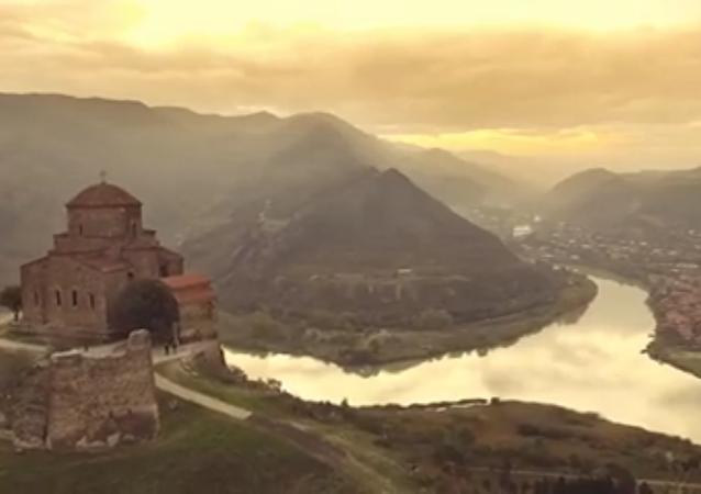 Géorgie: la splendide vue du ciel