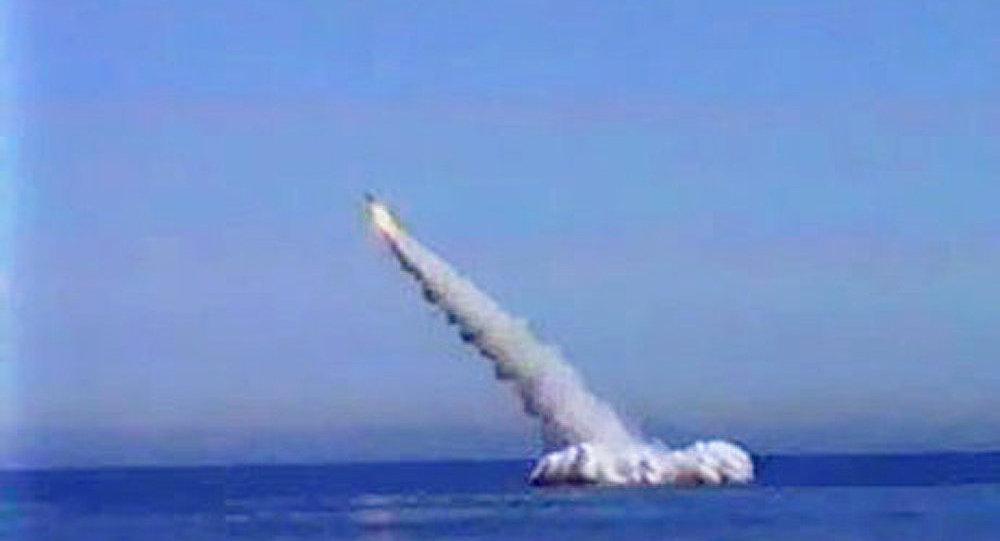 Tir réussi d'un missile Boulava
