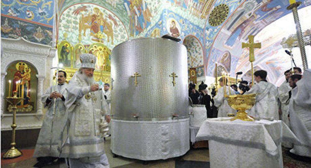 Le Patriarche Cyrille a célébré une liturgie divine et a béni les eaux