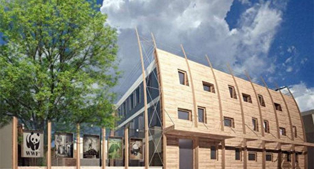 Le premier immeuble cologique moscou sputnik france for Immeuble ecologique