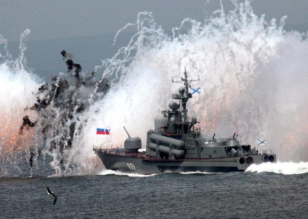 Vedette lance-missiles de la Flotte russe du Pacifique à Vladivostok.