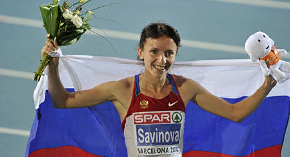 La Russe Maria Savinova meilleure athlète européenne