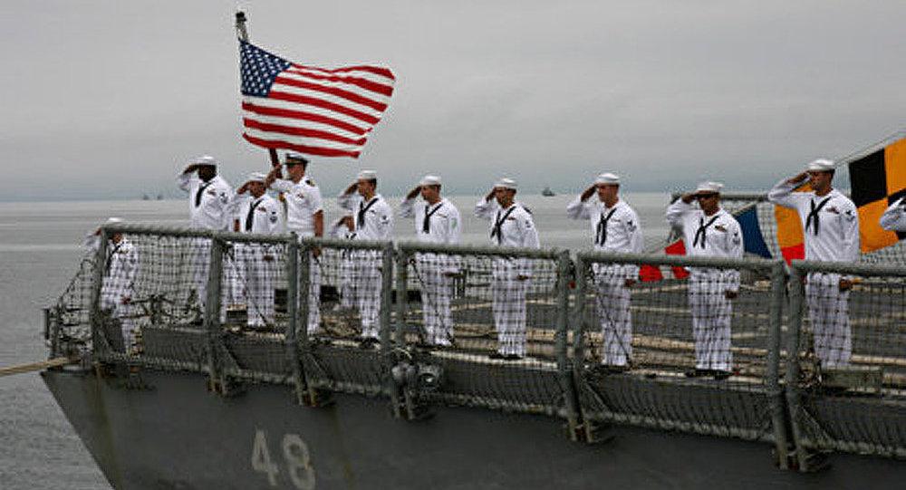 Le croiseur américain est entré dans le port de Sébastopol
