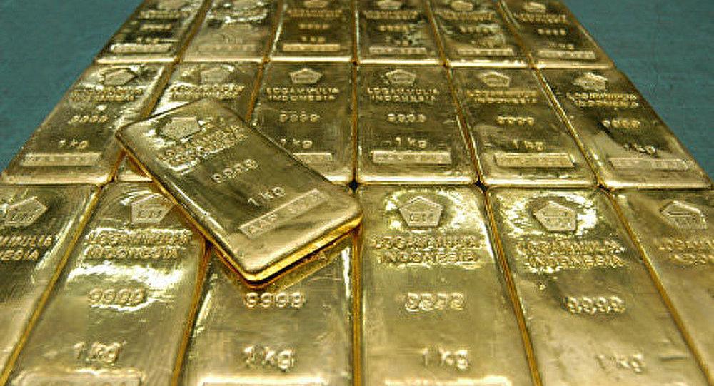 Prix de l'or en baisse brusque