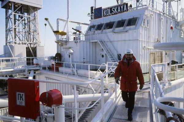 Sur la photo: la plateforme de forage «Kolskaïa».