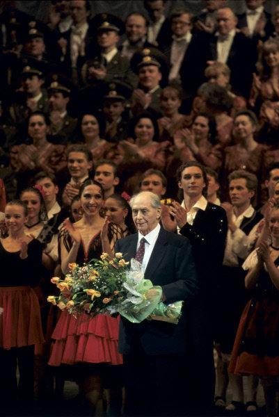 Soirée consacrée au 90e anniversaire du fondateur du ballet Igor Moïsseïev, 1995