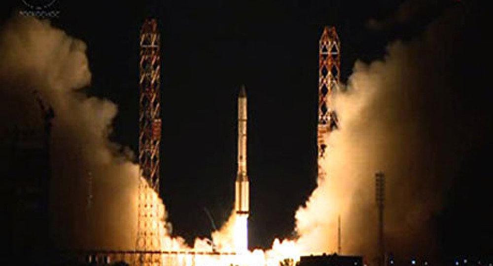 Le lanceur Proton avec un satellite américain tiré depuis le site de Baïkonour