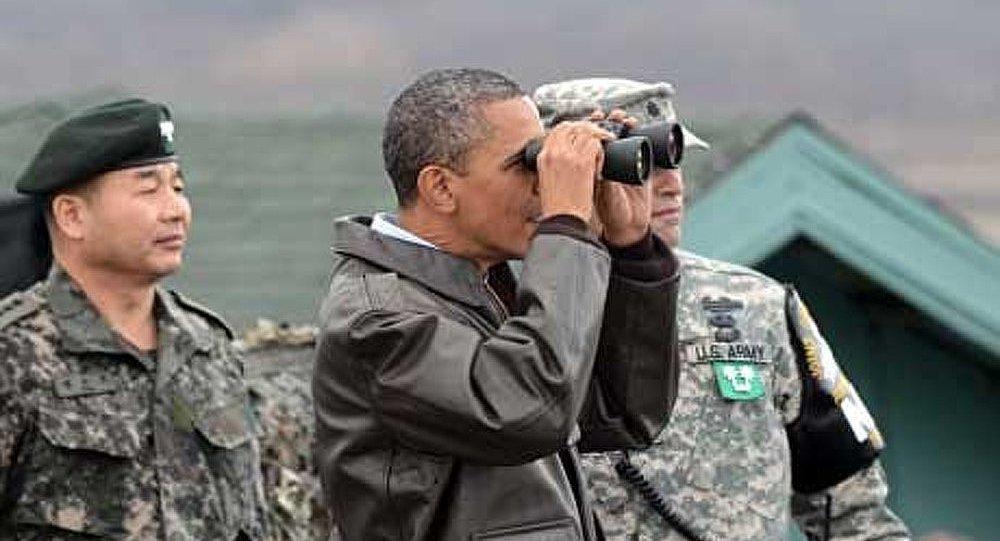 Barack Obama visite Panmunjom après Kim Jong Un
