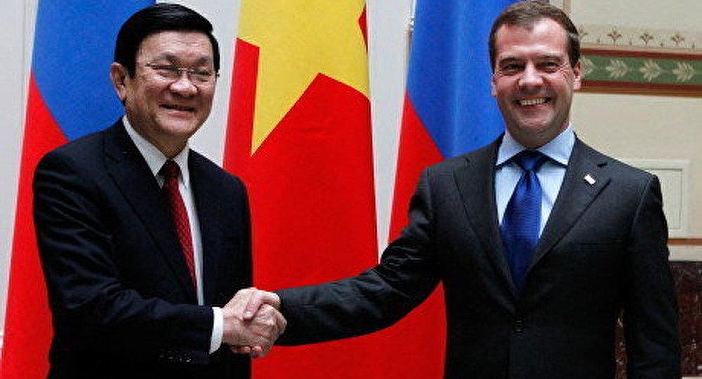 Medvedev a rencontré le président du Vietnam