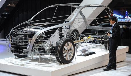 le futur et le pr sent de l 39 industrie automobile au salon de moscou sputnik france. Black Bedroom Furniture Sets. Home Design Ideas