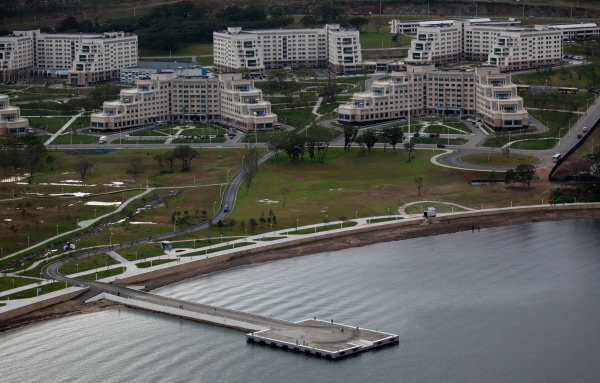 Sur la photo: les bâtiments de l'Université fédérale d'Extrême-Orient sur l'île Rousski à Vladivostok.