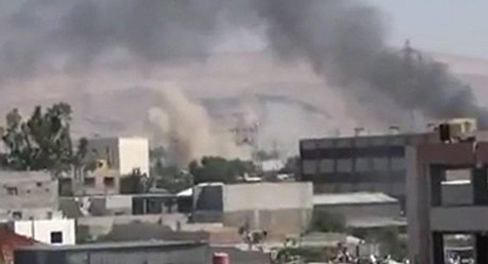 Une explosion damas devant le si ge du minist re de l for Ministere exterieur france