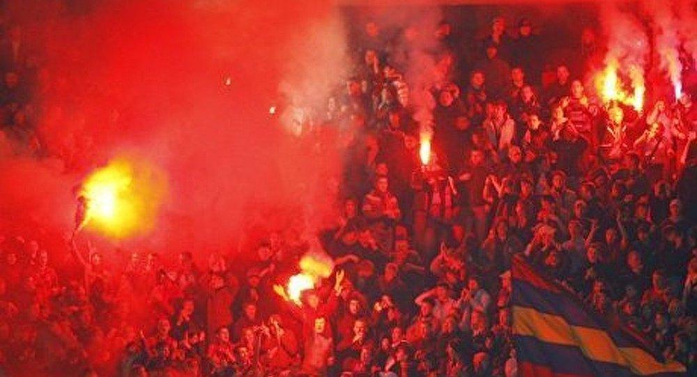 Une émeute de hooligans à Moscou