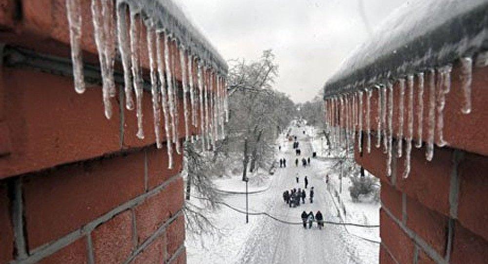 La Russie recouverte par la glace