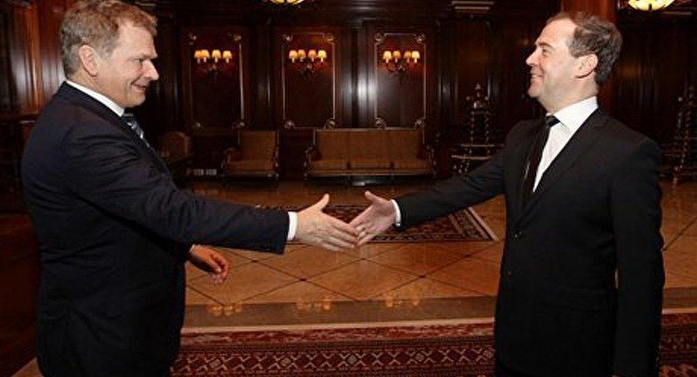 Rencontre entre Dmitri Medvedev et le président de Finlande