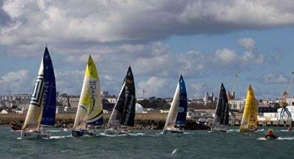 Quinze skippers au départ de Brest pour la Transat Bretagne-Martinique