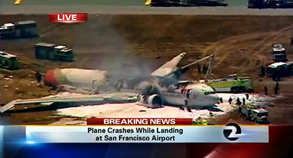 USA : un avion en flammes après un atterrissage raté à San Francisco(Vidéo)