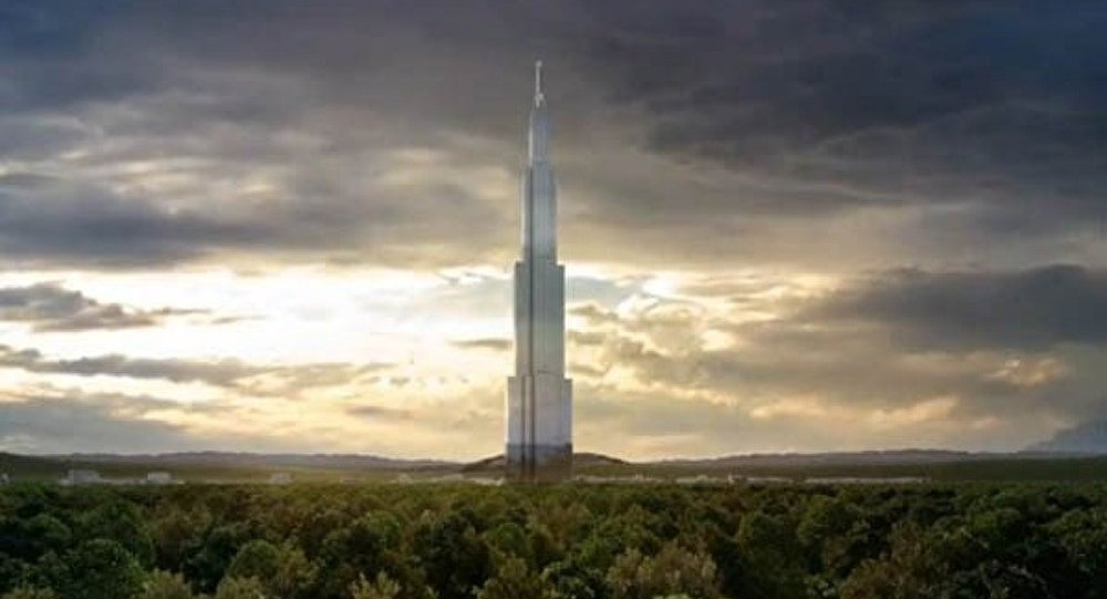 chine d but de la construction du plus grand immeuble du monde sputnik france. Black Bedroom Furniture Sets. Home Design Ideas