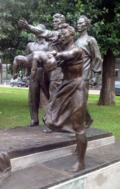 Une sculpture de Vera Moukhina dans un parc de Moscou