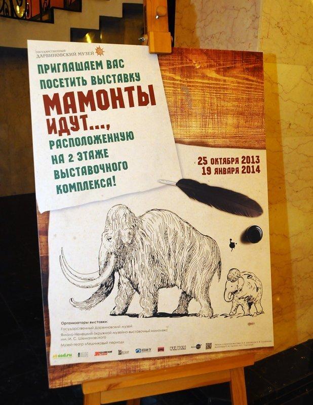 L'exposition Les mammouths arrivent restera ouverte au musée Darwin de Moscou jusqu'au 19 janvier 2014.
